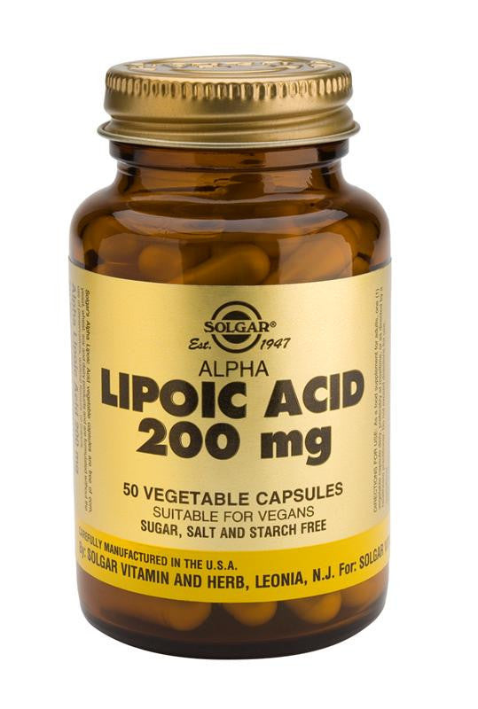 Solgar Alpha Lipoic Acid 200 mg Vegetable Capsules - 50 Capsules