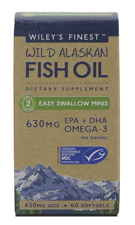 Wileys Finest Fish Oil Easy Swallow Minis Capsules - 60 Capsules