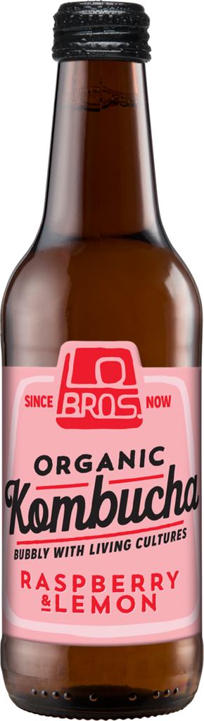 Lo Bros Organic Kombucha Raspberry & Lemon 330ml