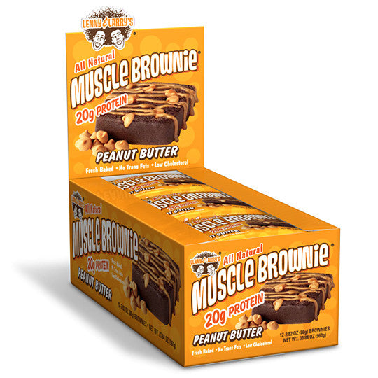 Lenny & Larry's Muscle Brownie Peanut Butter x12