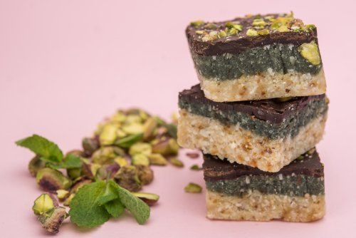 Raw Bake Station Mint Slice with Raw Greens - 45g