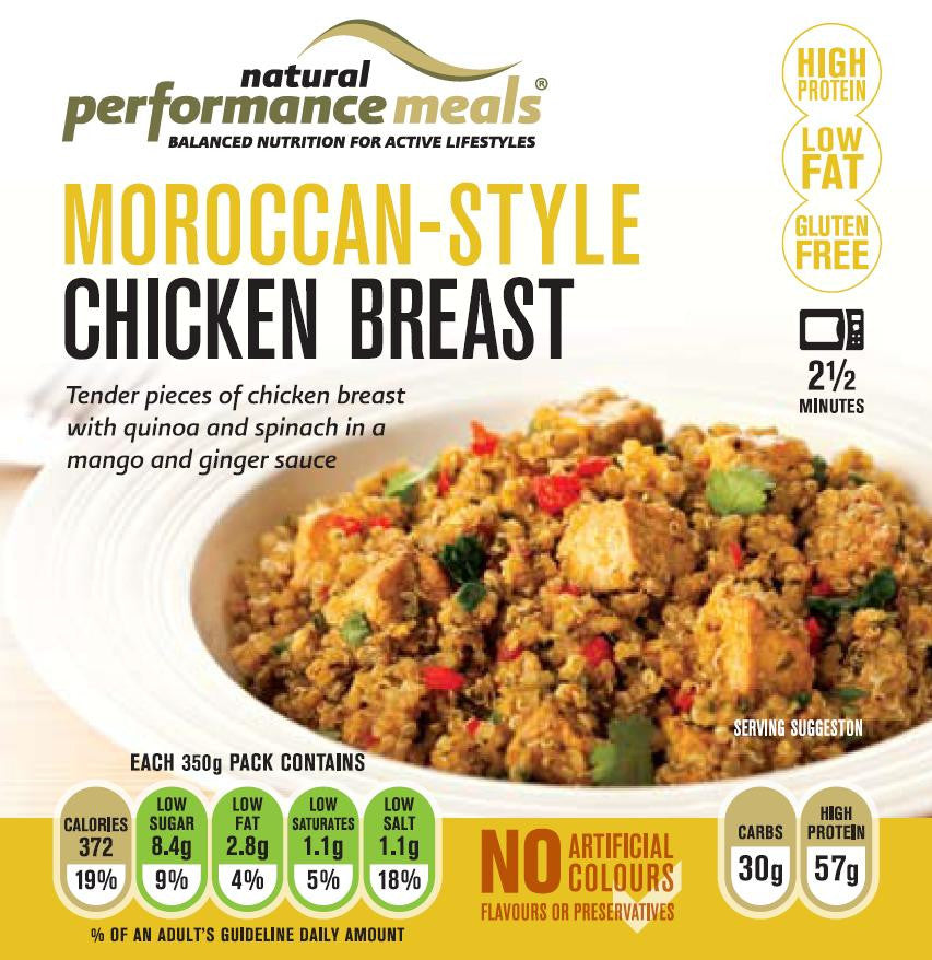 Natural Performance Meals Moroccan Style Chicken And Quinoa 350g