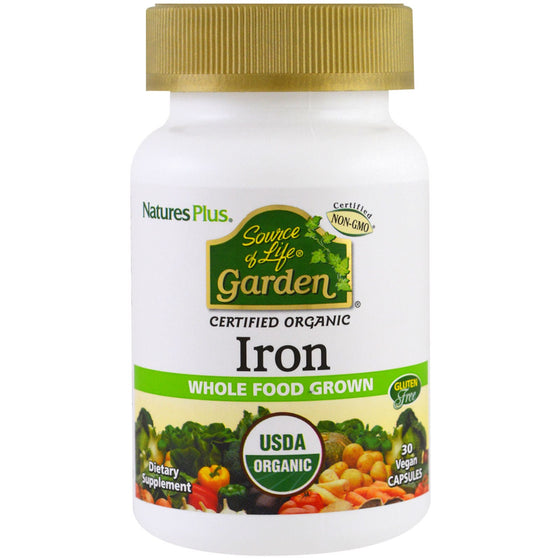 Nature's Plus - Source of Life Garden- Iron - 30 Vegan Capsules