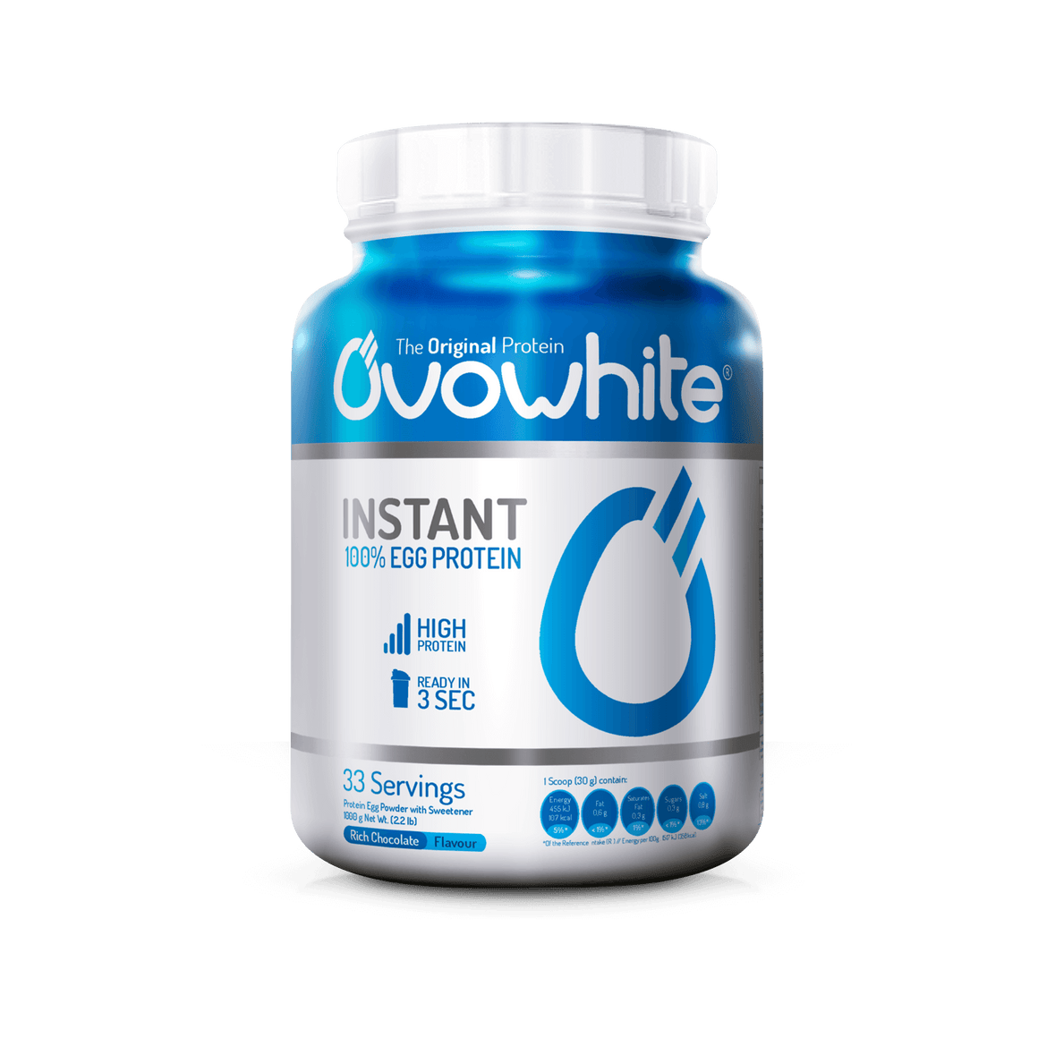 Ovowhite Instant 100% Egg Protein - 1Kg