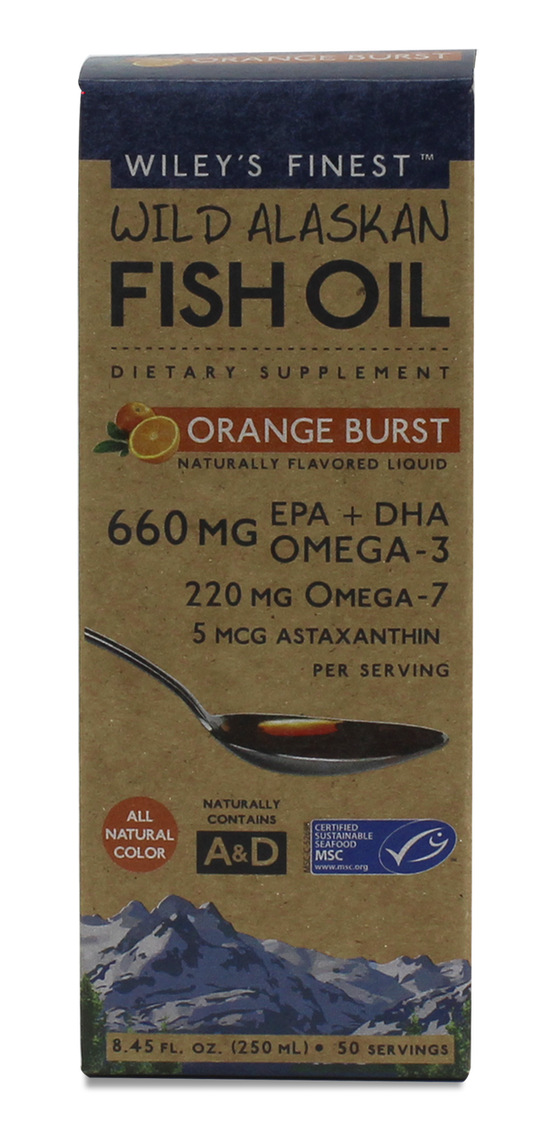 Wileys Orange Burst Liquid Fish Oil - 50 Servings