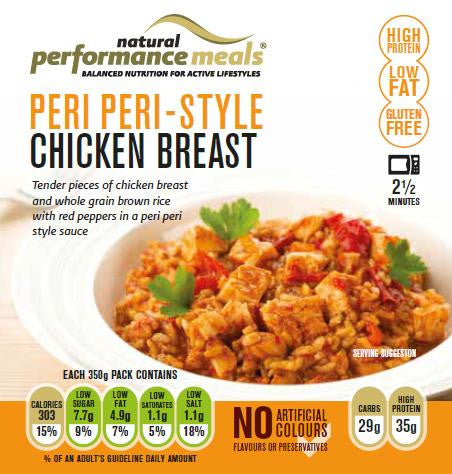 Natural Performance Meals - Peri Peri Style Chicken Breast 350g