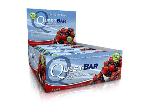 Quest Bars Mixed Berry Bliss Box of 12