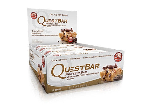 Quest Bar Chocolate Chip Cookie Dough Box of 12