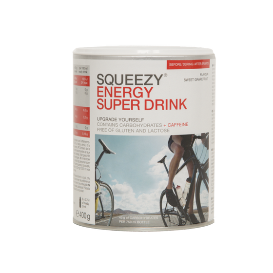 SQUEEZY ENERGY SUPER DRINK (CAFFEINE) 400g - Grapefruit