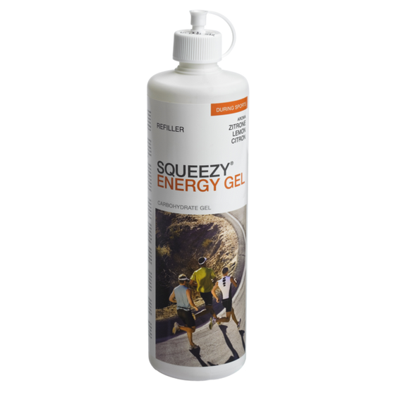 SQUEEZY ENERGY GEL REFILL BOTTLE - 500ml Lemon