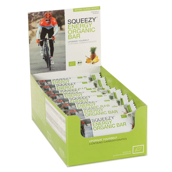 SQUEEZY ENERGY ORGANIC BAR - BOX 25