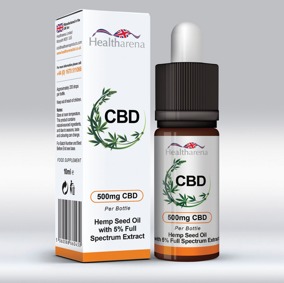 Healtharena CBD Oil 500mg 10ml
