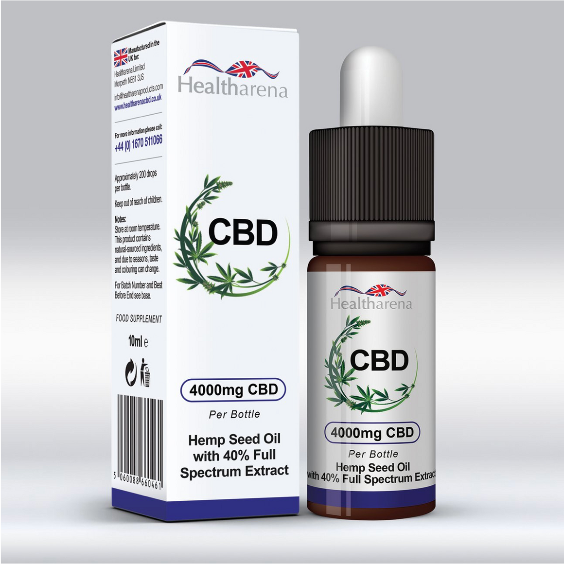 Healtharena CBD Oil 4000mg 10ml