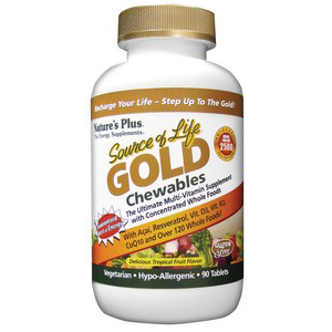 Natures Plus Source of Life Gold Chewables 90's