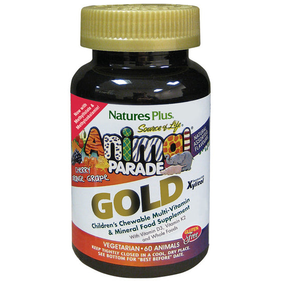 Natures Plus Animal Parade Gold Cherry Flavour 60 Chewables