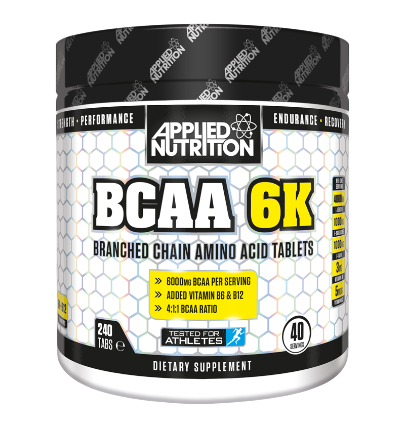 Applied Nutrition BCAA 6K (branched chain amino) Tablets - 240 tabs (40 servings)