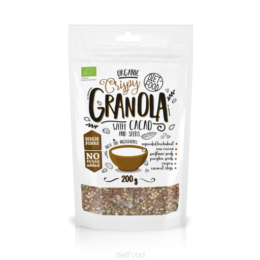 Diet Food Organic Granola with Cacao - 200g