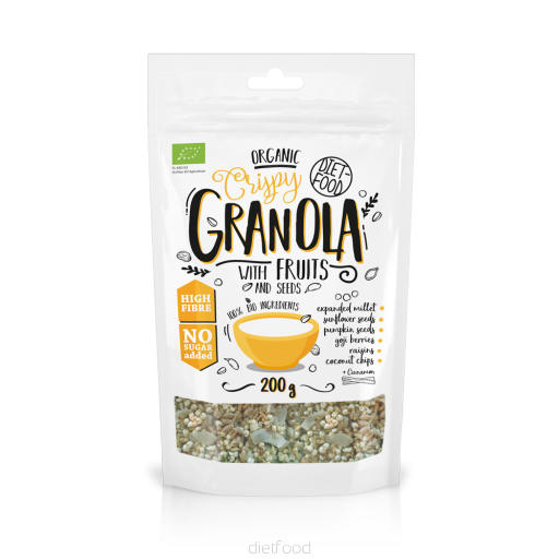 Diet Food Organic Granola with Fruits 200g