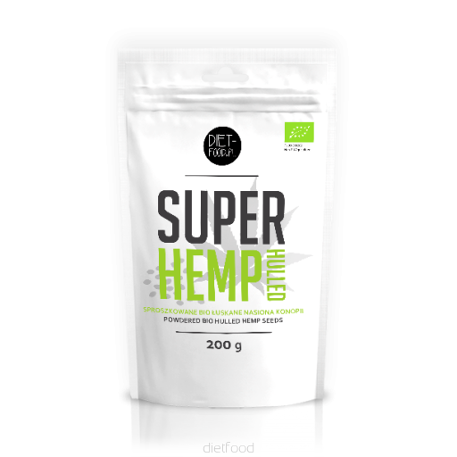 Diet Food Bio Super Hemp Seeds Hulled 200g