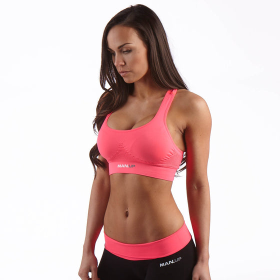 Man Up Gym Bra Passion Pink