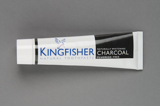 Kingfisher Naturally Whitening Charcoal Toothpaste Fluoride Free - 100ml