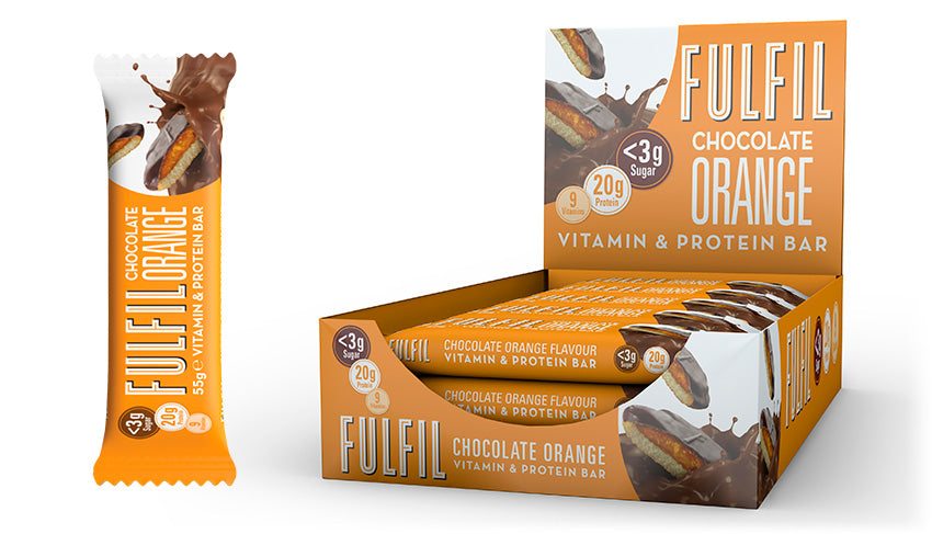 Fulfil Nutritoin Chocolate Orange Vitamin and Protein Bars x 15