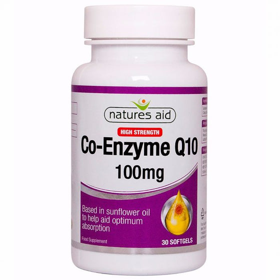 Natures Aid Co-enzyme-Q-10 100mg