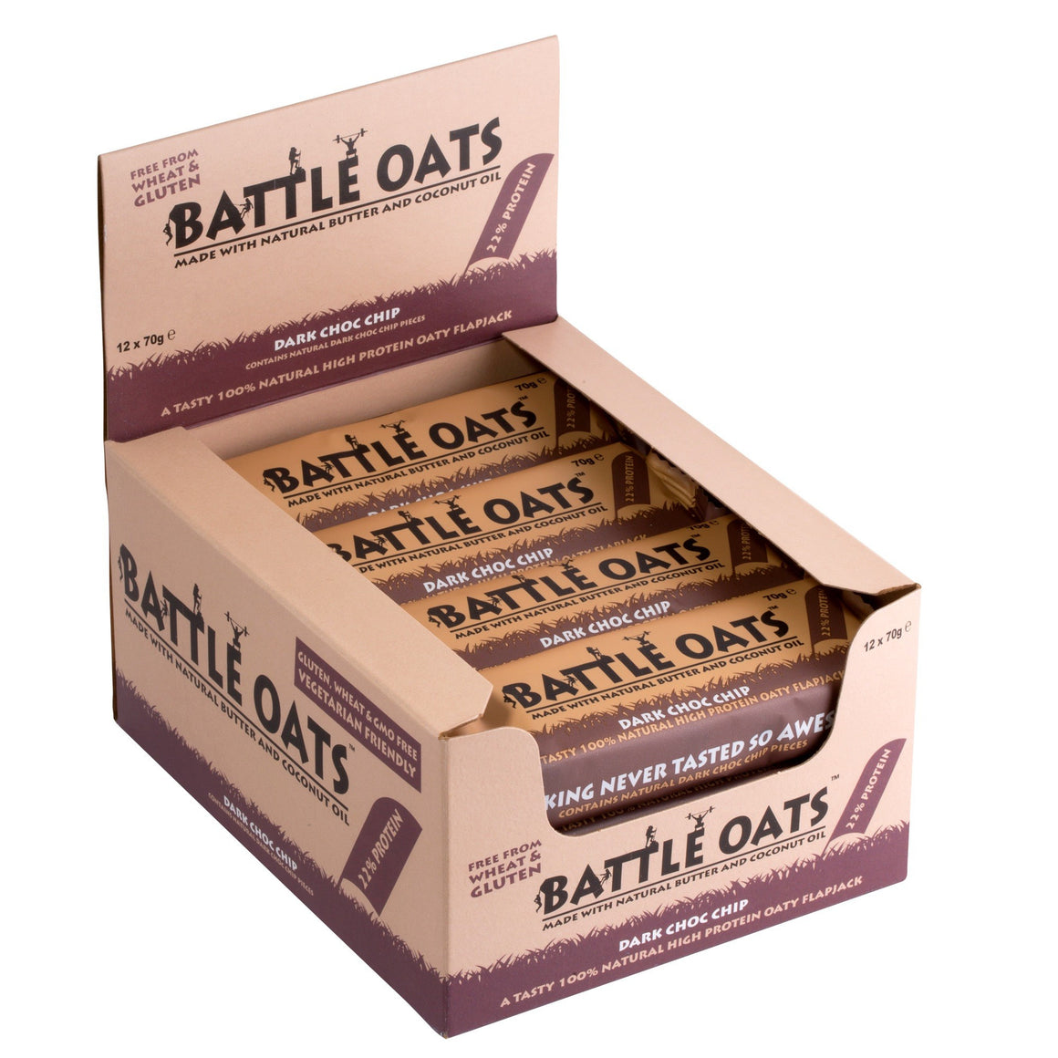 Battle Oats Natural Protein Flapjack