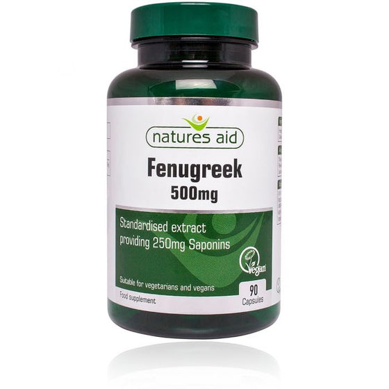 Natures Aid Fenugreek 500mg 90 Capsules