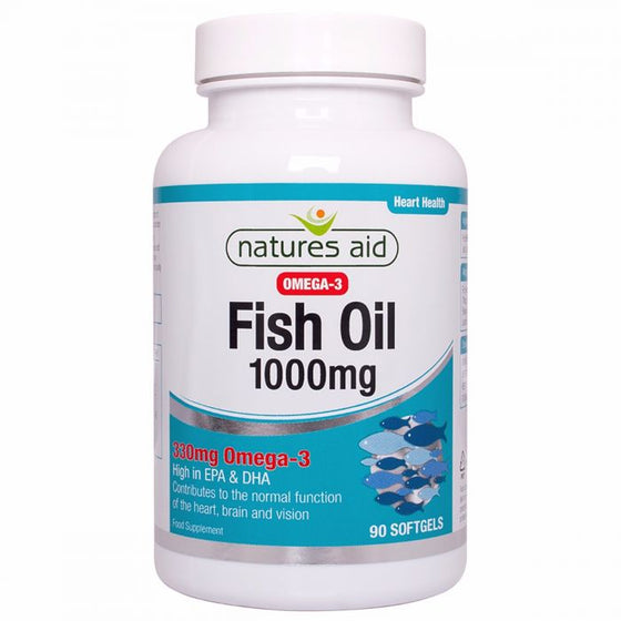 Natures Aid Fish Oil 1000mg (Omega-3)