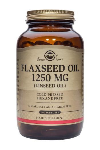 Solgar Cold Pressed Flaxseed Oil 1250 mg 100 Softgels