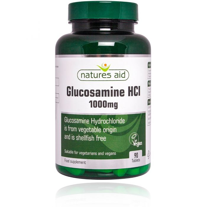 Natures Aid Glucosamine HCI 1000mg  (Suitable for Vegetarians & Vegans)