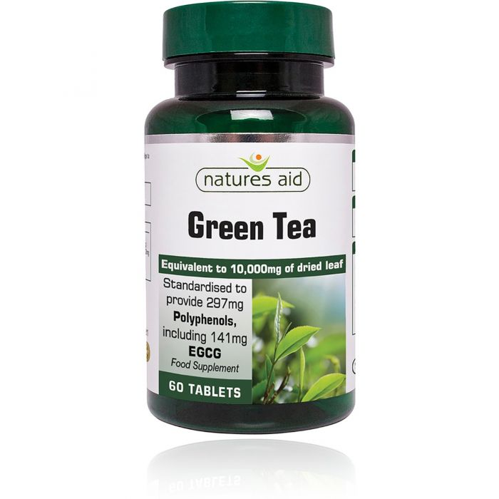 Natures Aid Green Tea 10,000mg 60 Tablets