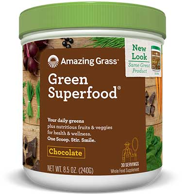 Amazing Grass Green Superfood Chocolate - 240g (30 Servings)