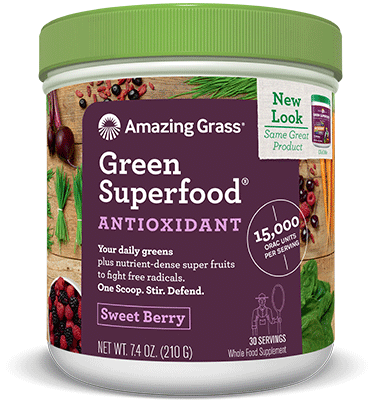 Amazing Grass Green Superfood Antioxidant Sweet Berry Flavour - 210g (30 servings)