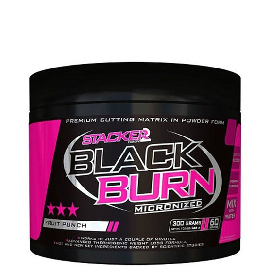 Stacker2 Black Burn Micronized - 300g (60 servings)