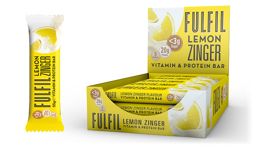 Fulfil Nutrtion Lemon Zinger Vitamin and Protein Bars x 15