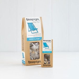 Teapigs Lazy Days Lemon and Ginger - 15 Tea Temples