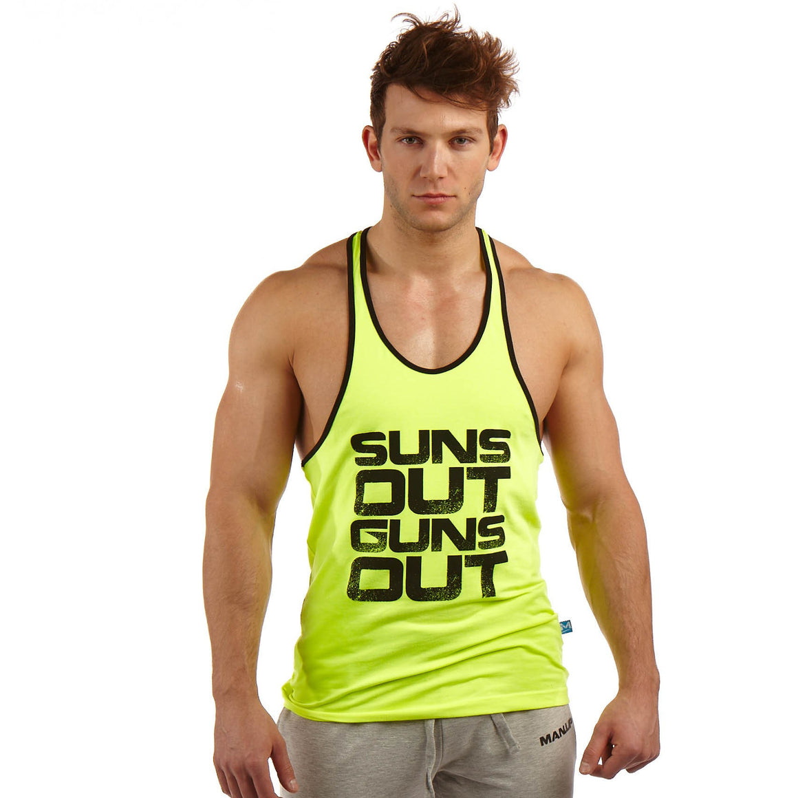 Man Up Stringer Neon - Suns Out Guns Out