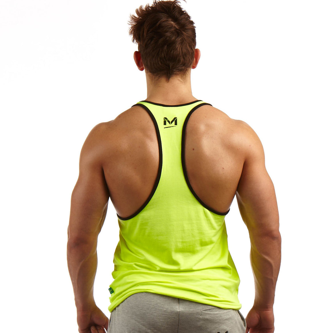Man Up Stringer Neon - Everyday Is Leg Day