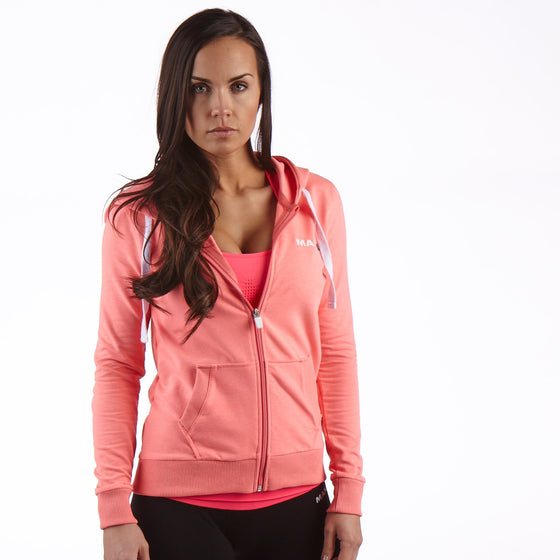 Man Up Womens Gym Hoodie Pink