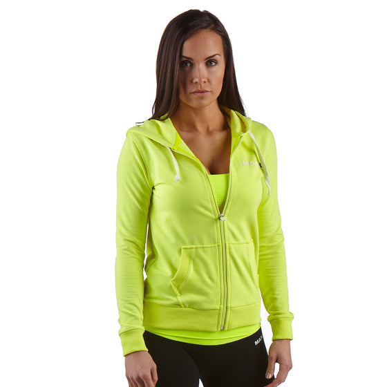 Man Up Women's Hoodie Neon Yellow