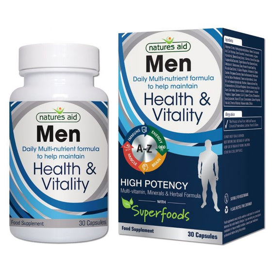 Natures Aid Men Health and Vitality - 30 capsules