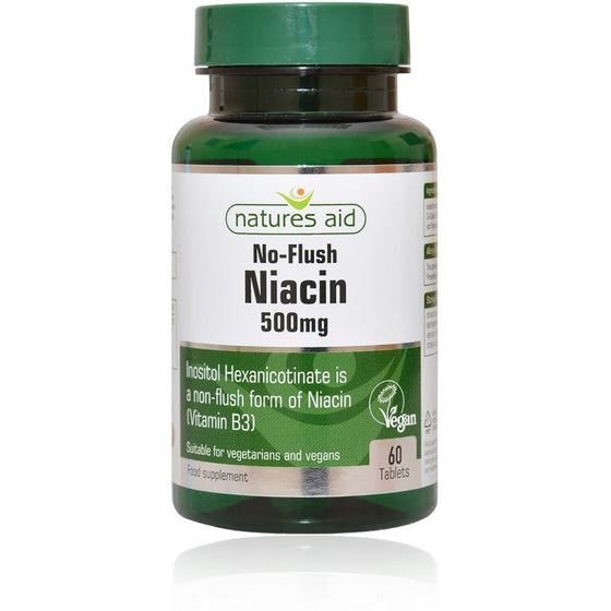 Natures Aid No-Flush Niacin 500mg - 60 tablets