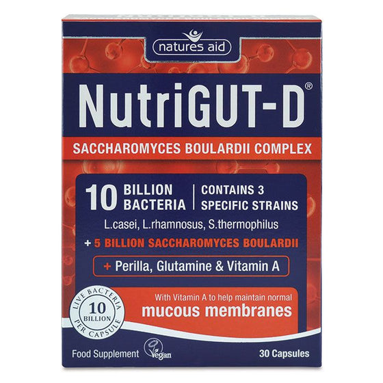 Natures Aid NutriGUT-D® (10 Billion Bacteria) - 30 Capsules
