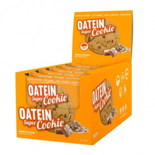 Oatein Super Cookie Box of 12 Salted caramel