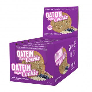 Oatein Super Cookie Box of 12 White Chocolate & Blueberry