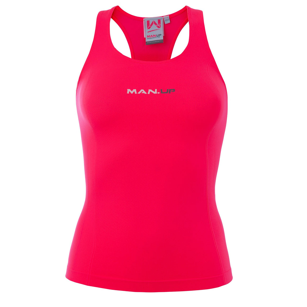 Man Up Seamless Tank Passion Pink