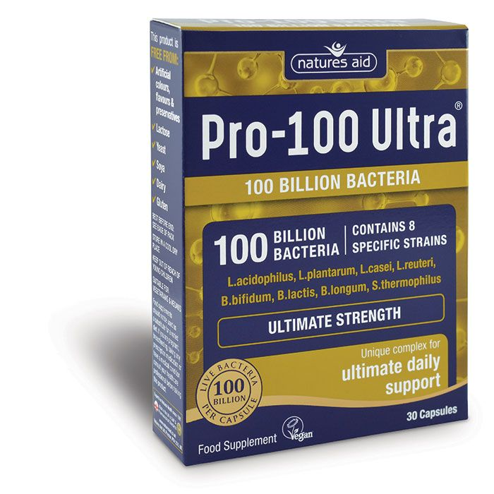 Natures Aid Pro-100 Ultra® (100 Billion Bacteria) - 30 Capsules