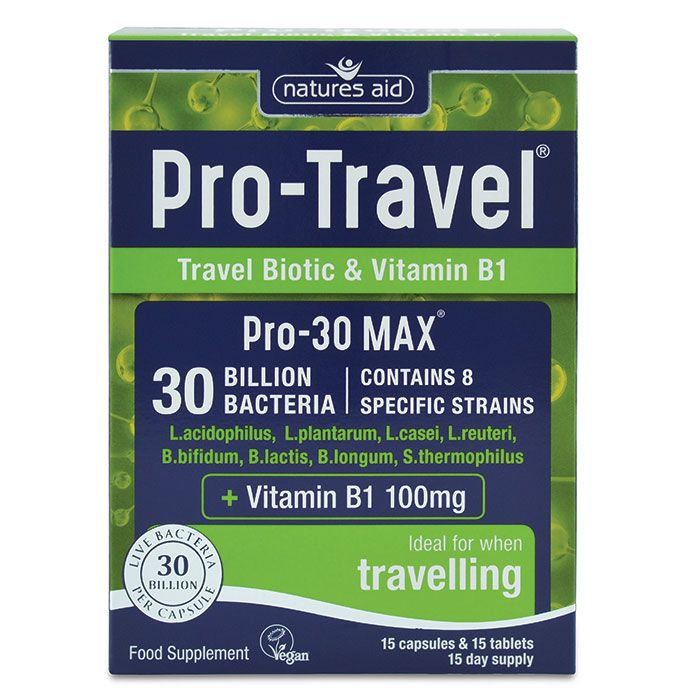 Natures Aid Pro-Travel® (30 Billion Bacteria) - 15 Days Supply